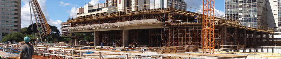 Construction work in Brasilia