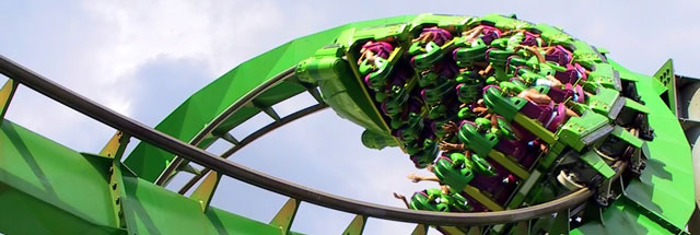 The Hulk roller coaster at Universal Islands of Adventure